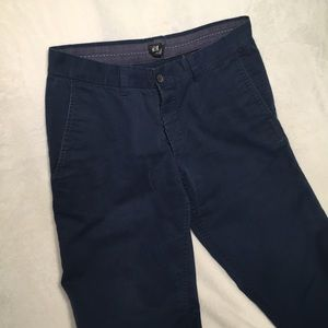 H&M button fly navy khakis